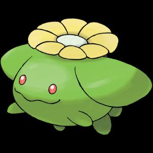 外貌    毽子花是植物形的神奇宝贝,有着圆形绿色的身体和短粗的