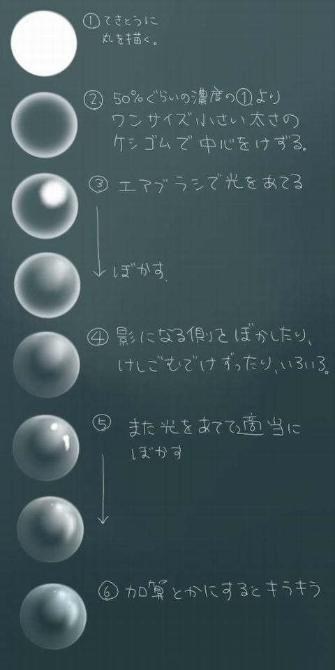 萌化教程 气泡的画法&绘制过程