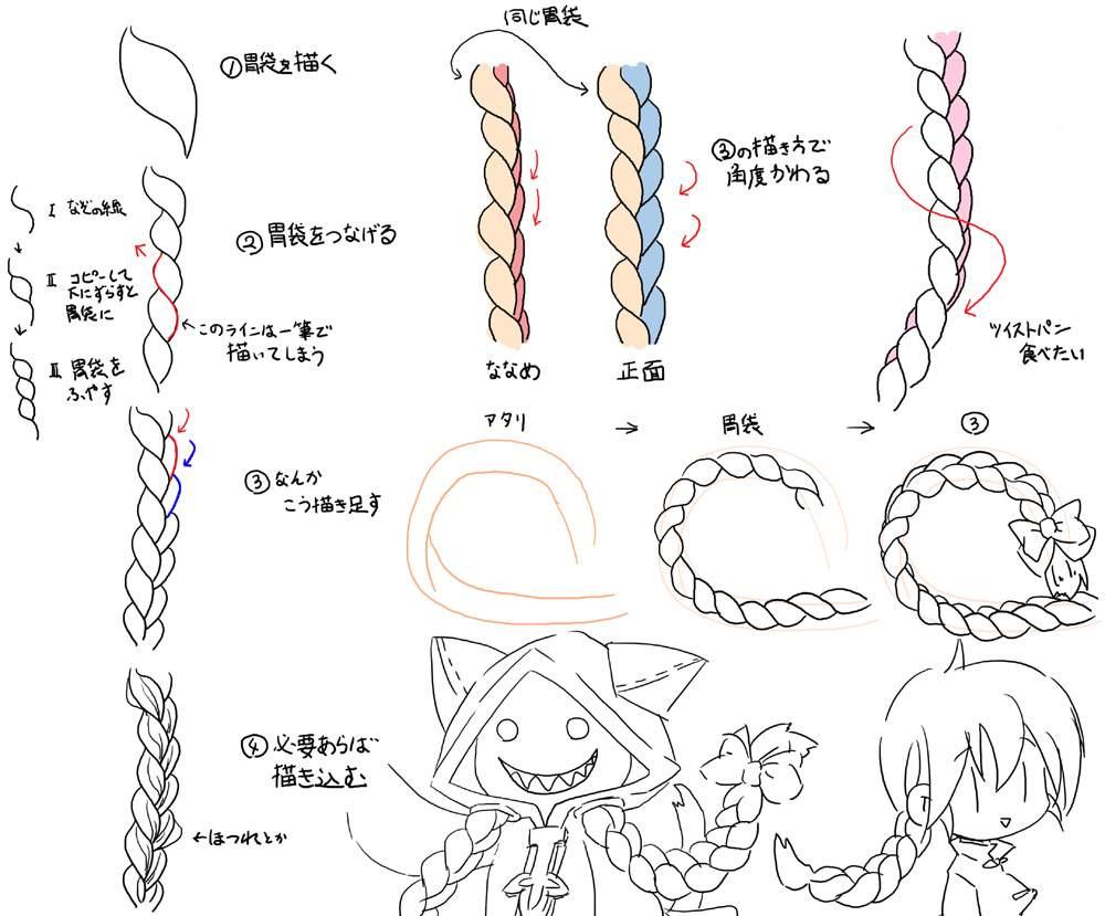 萌化绘画教程 简单易懂的麻花辫画法特辑