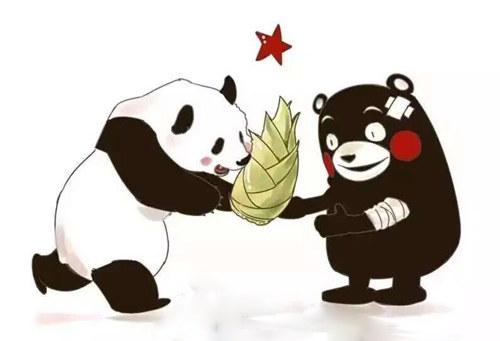 熊本,熊本地址,网友画熊猫为熊本祈福:加油,熊本熊!