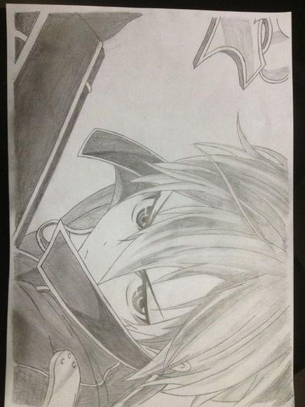 刀剑神域手绘美图,桐人手绘
