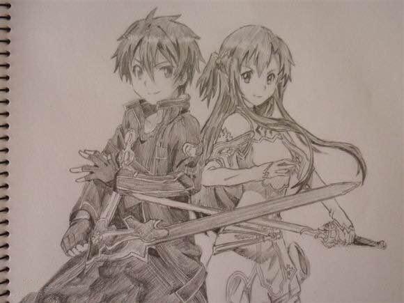 刀剑手绘精选,刀剑桐人手绘