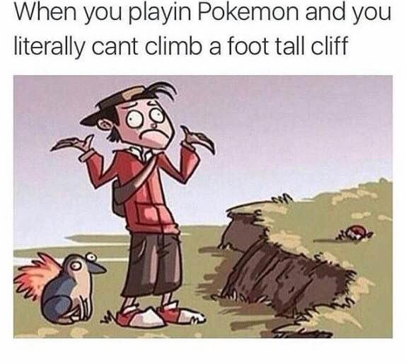 """当你玩Pokemon 的时候你真的跨不过一道""""坎"""" 趣图集锦第三弹"""