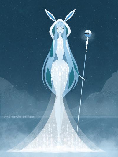 女神风格伊布家族合集 你最爱哪个?