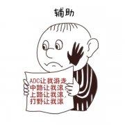 改编高考作文漫画 打野辅助表示心很累