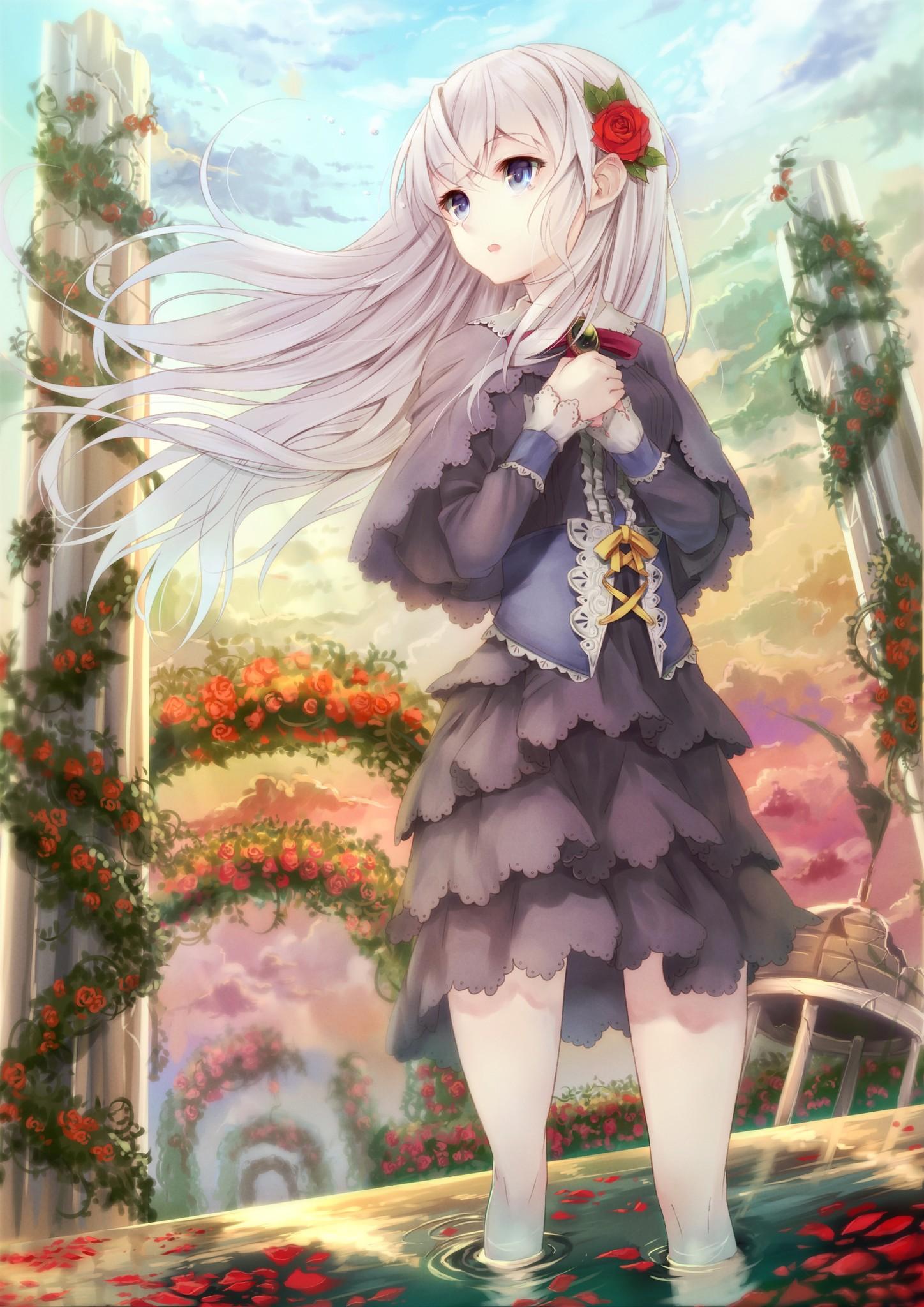 动漫少女 手机壁纸 公主的华丽小礼服