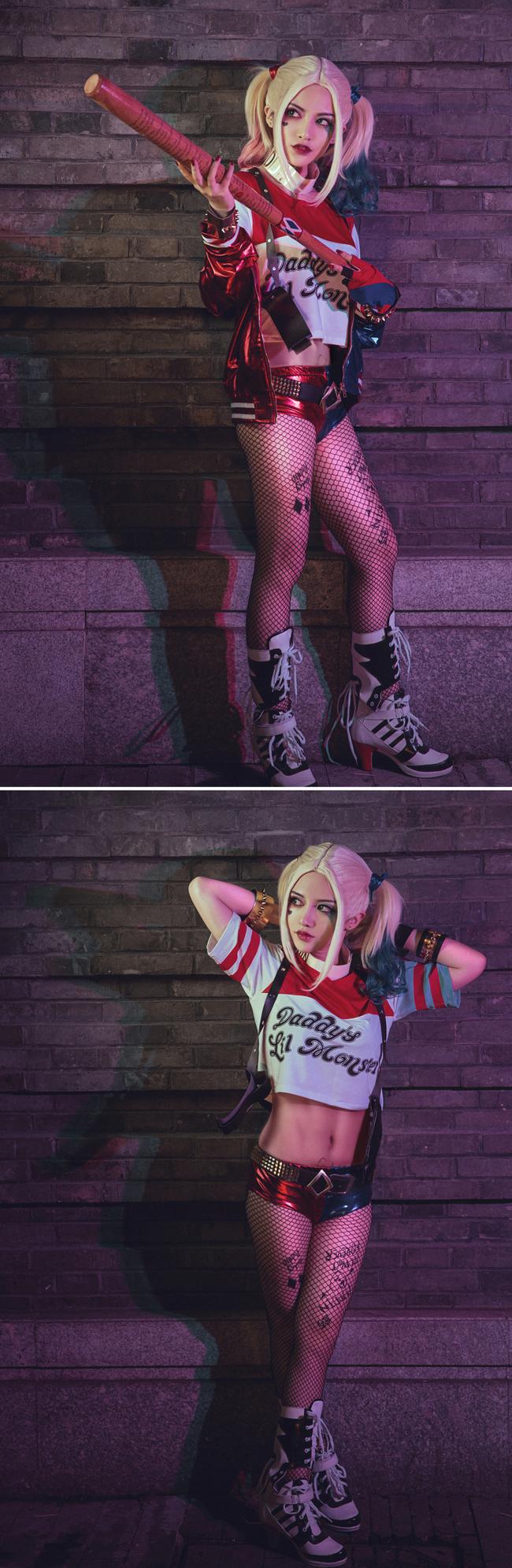 自杀小队小丑女 哈莉奎恩cos图片