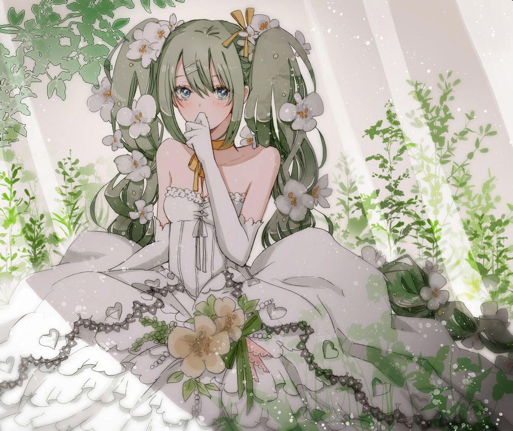 花嫁,婚纱少女