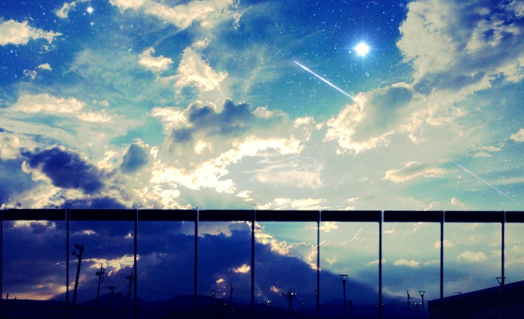 天空与云 美爆的天空插画壁纸 还不快戳进来(2)_萌化资源_动漫资源_acg资源-萌娘资源站