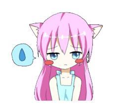 粉色,萝莉,猫耳娘,Nekoko,表情包,动漫表情