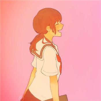 粉红色的回忆 动漫qq情侣头像