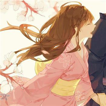 和服风,动漫情侣头像,qq头像