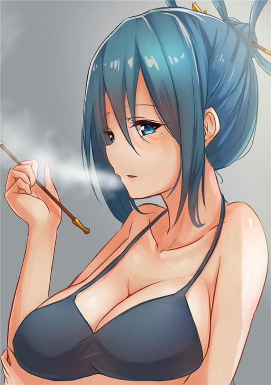 抽烟少女,福利壁纸,动漫壁纸1080