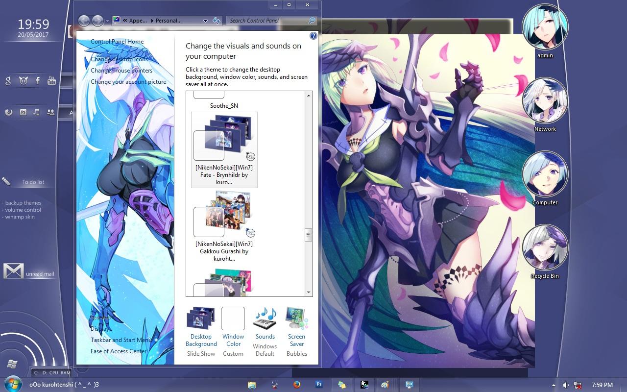Fate/GO Lancer 布伦希尔德 萌化Win7电脑主题