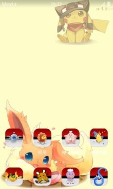 口袋妖怪 精灵球 安卓手机萌化主题下载