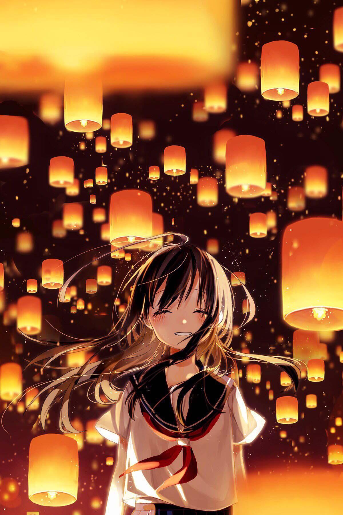 夏日灯火宛如漫天流萤 灯笼与少女 精选美图壁纸
