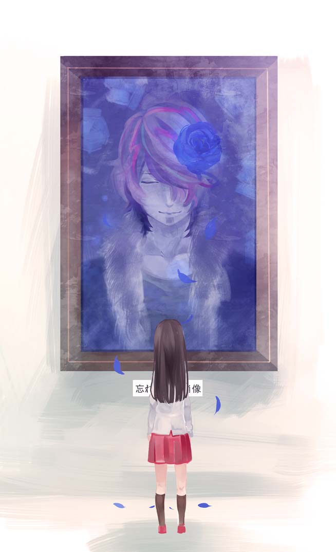 恐怖美术馆《IB》忘却的肖像 结局绘 P站画师ちま 玛丽 咖喱 IB