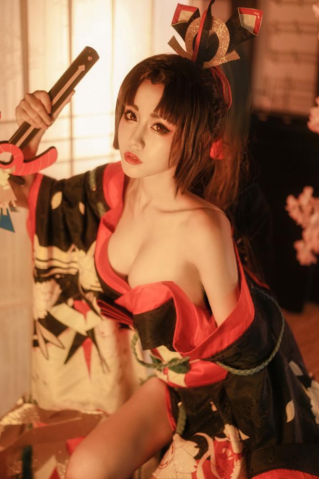 阴阳师,妖刀姬cos,桃昔