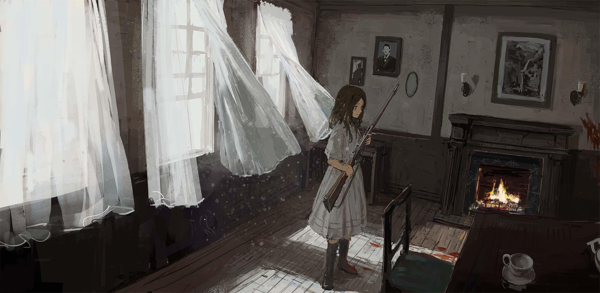 枪械与少女 P站精选电脑壁纸合集 高清壁纸 动漫美图