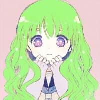 原谅色头像,绿毛少女头像,动漫女生头像