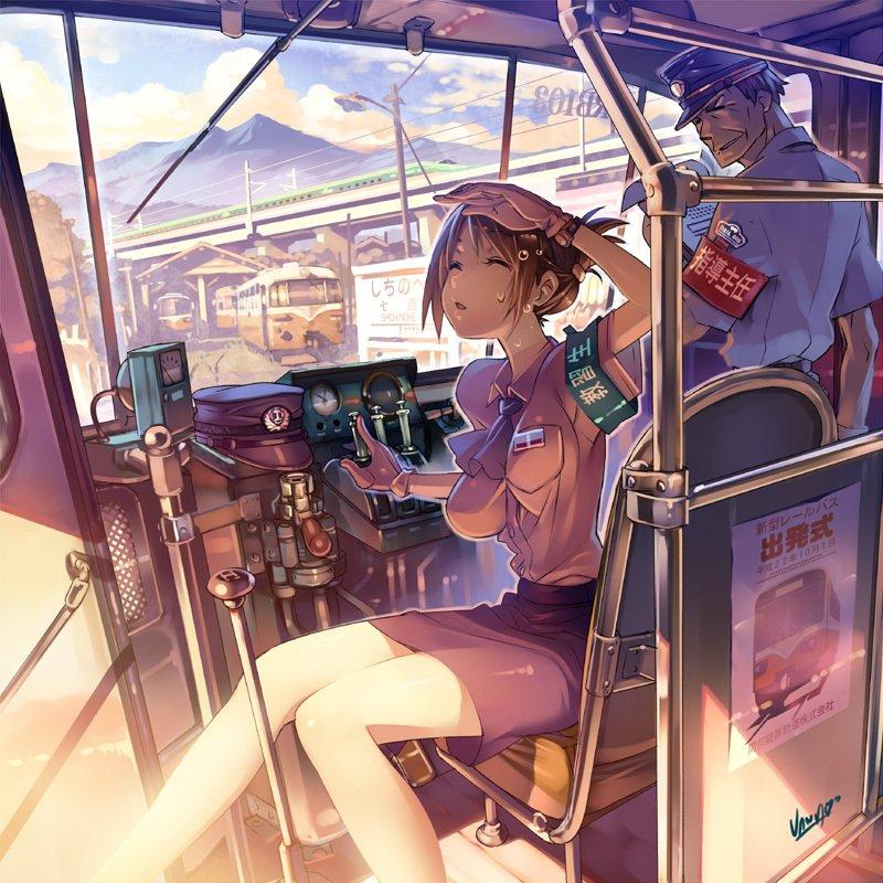 少女与电车,情人节壁纸,七夕动漫壁纸