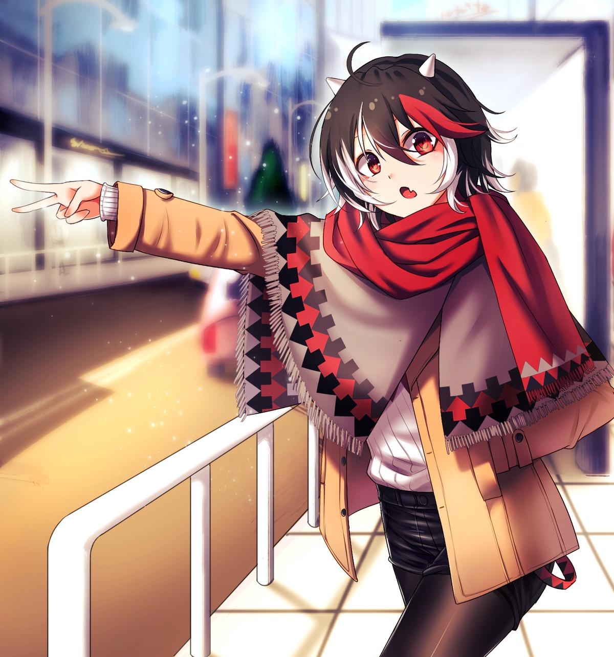 长袖少女美图,动漫美少女图集,日本冬装图
