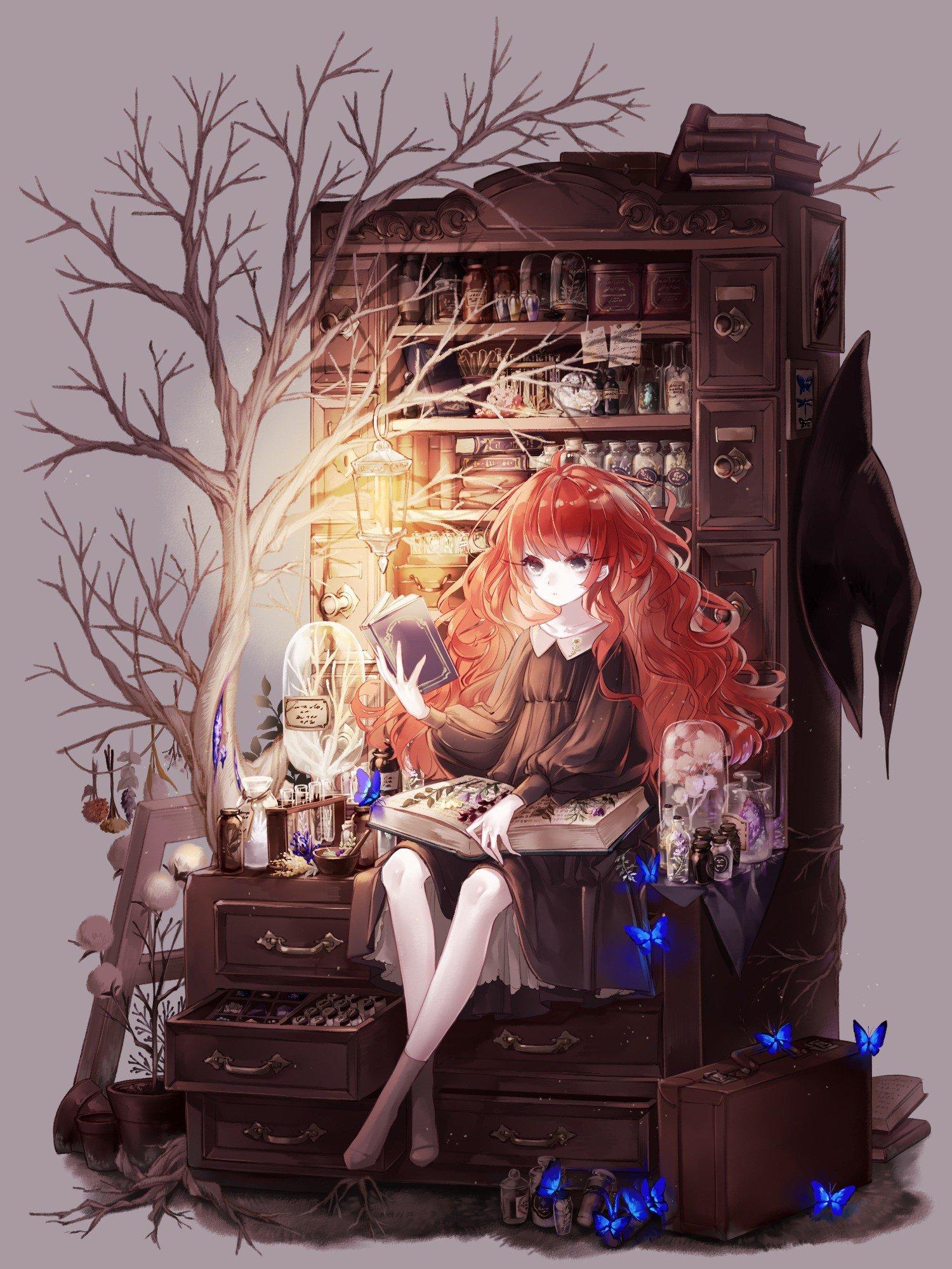动漫女巫美少女,福利本子,动漫手机壁纸