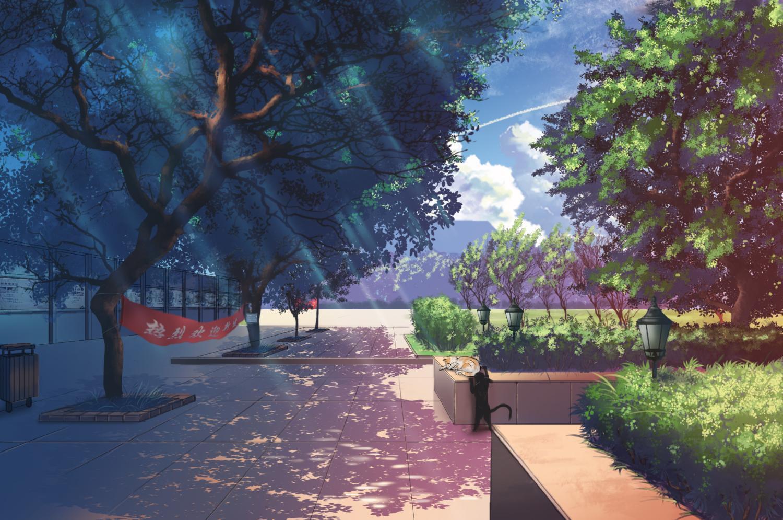 二次元风景图,动漫场景图,风景壁纸