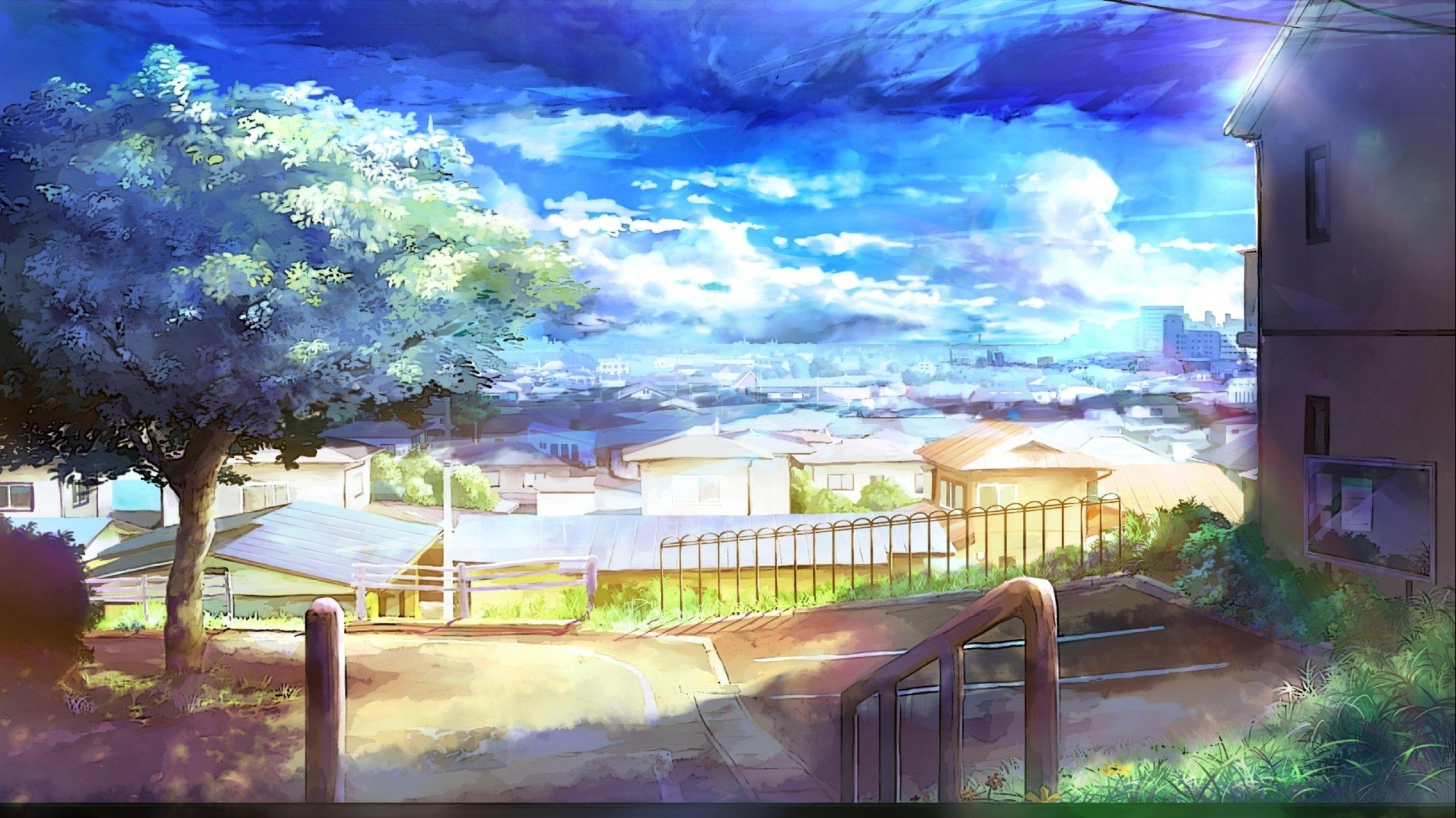 夏日风景图,二次元夏日风景,动漫夏日场景图