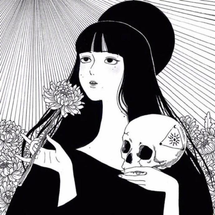日系头像,病娇头像,黑白头像,女生头像