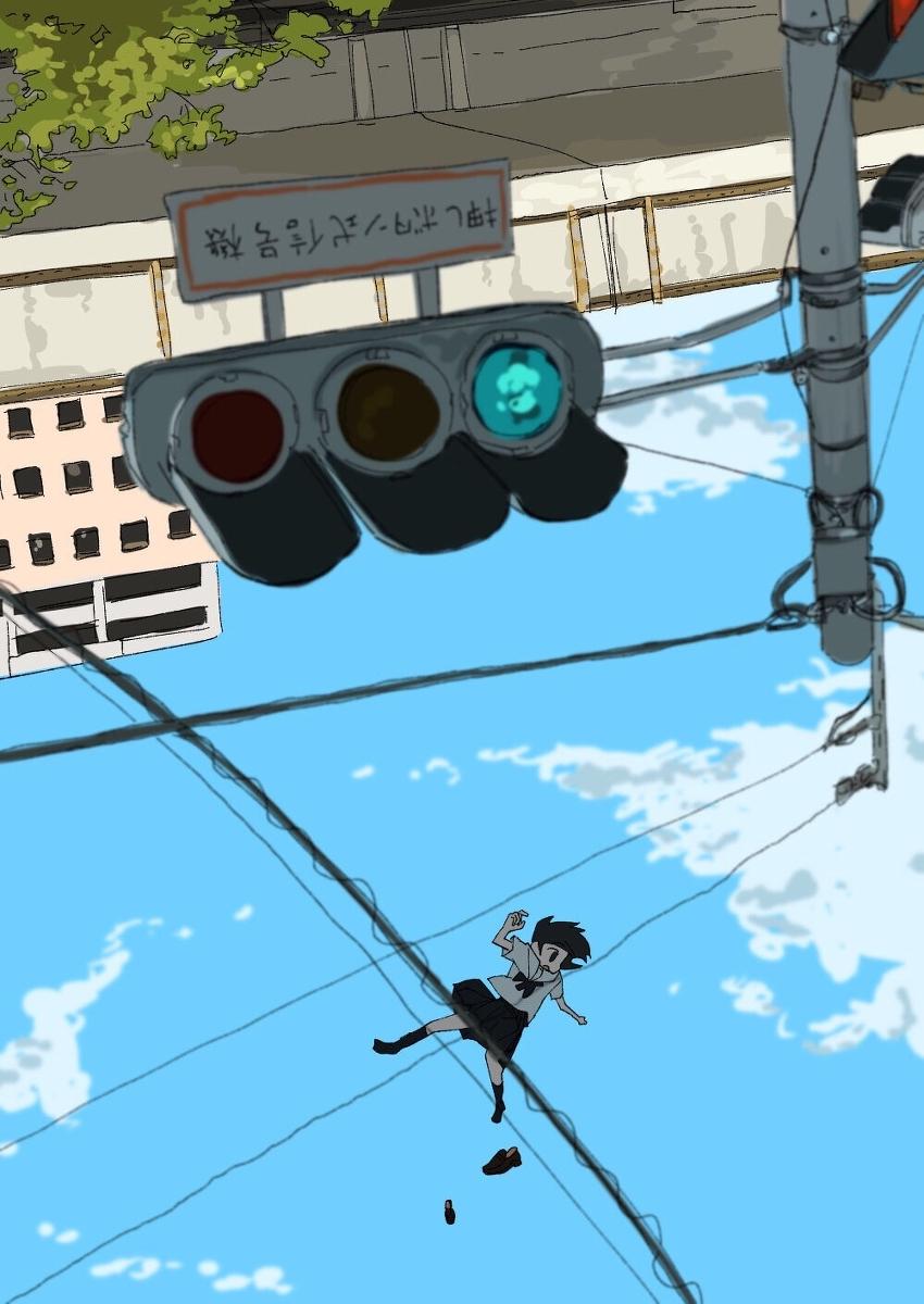 P站美图,动漫图片下载,天上掉下少女图