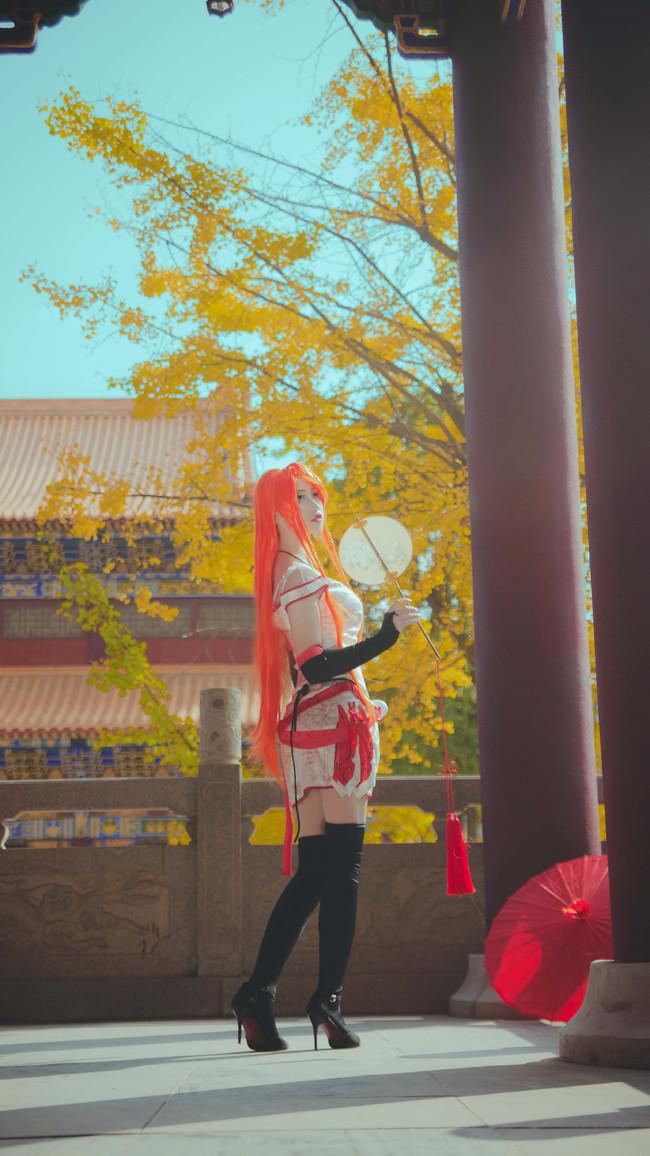 王者荣耀cosplay,李白转性cosplay,菊子limi