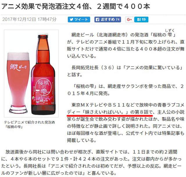如果有妹妹介绍《樱桃发泡酒销量大增》但是这部动画不方便大肆宣传啊…… - 图片2