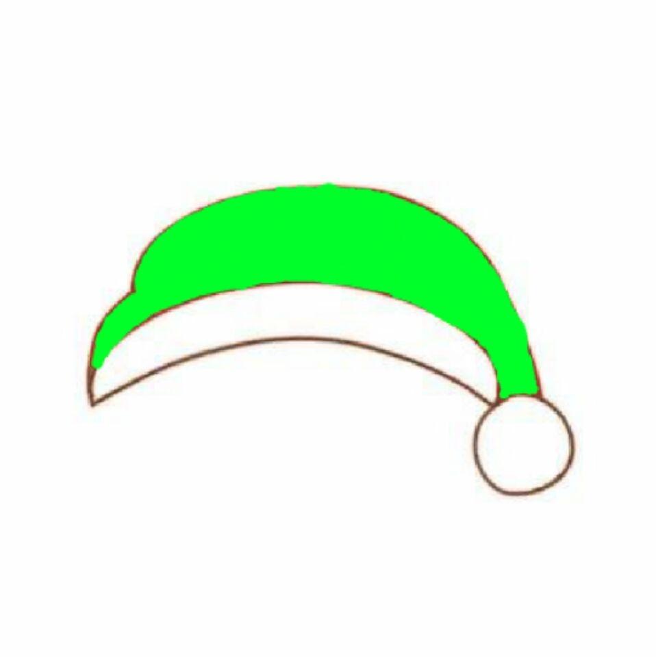 圣诞图片表情绿帽子三国版q表情表情帽子包图片