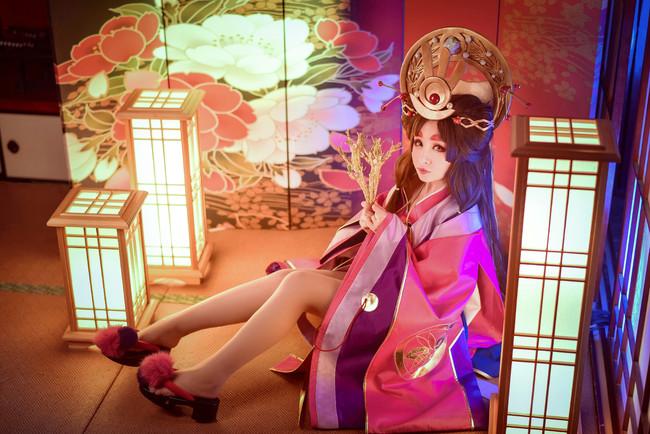 阴阳师cos,辉夜姬cosplay,污安-绾