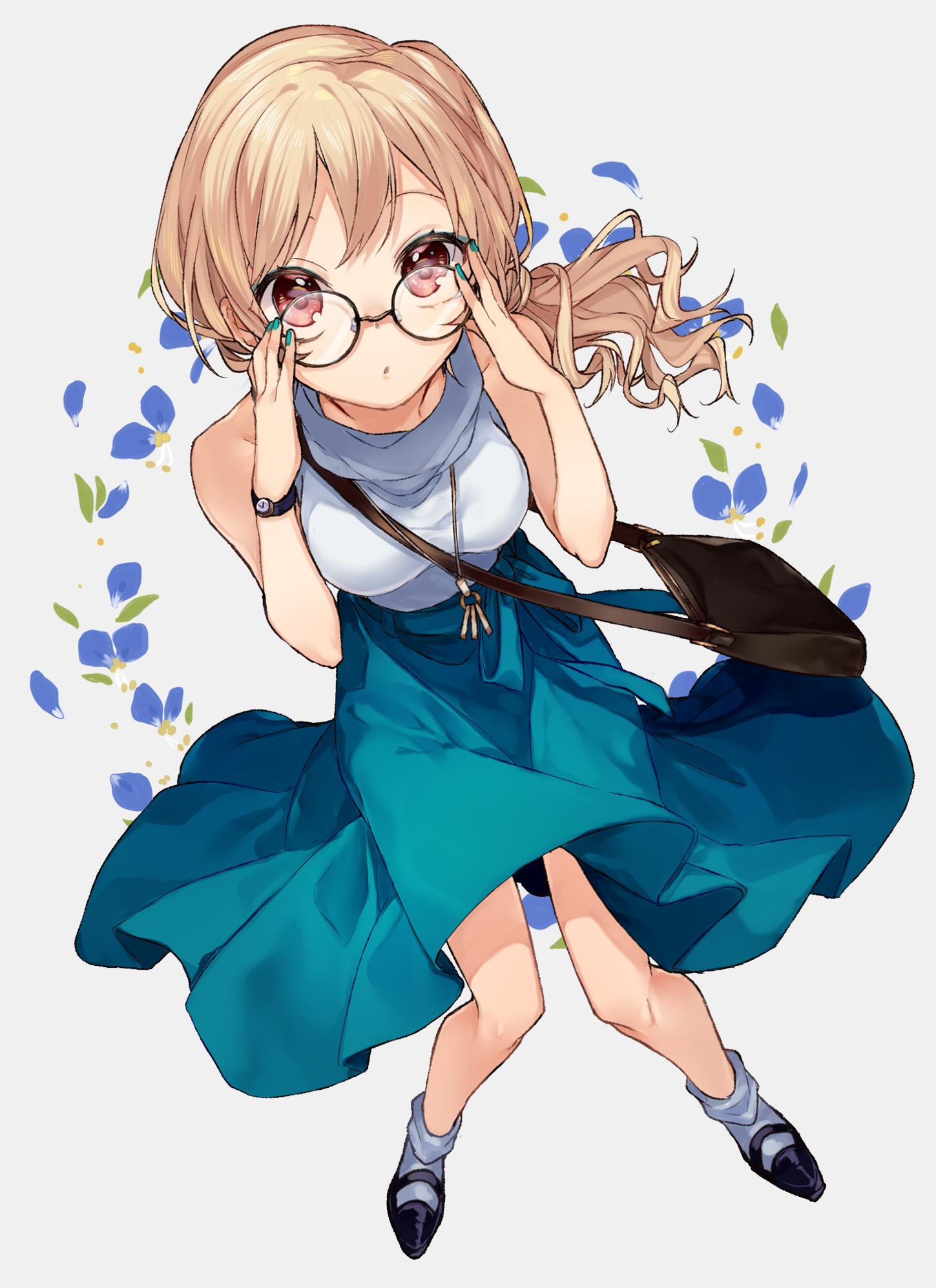 id=65332968,眼镜娘本子,动漫眼睛娘,圆框眼镜图片