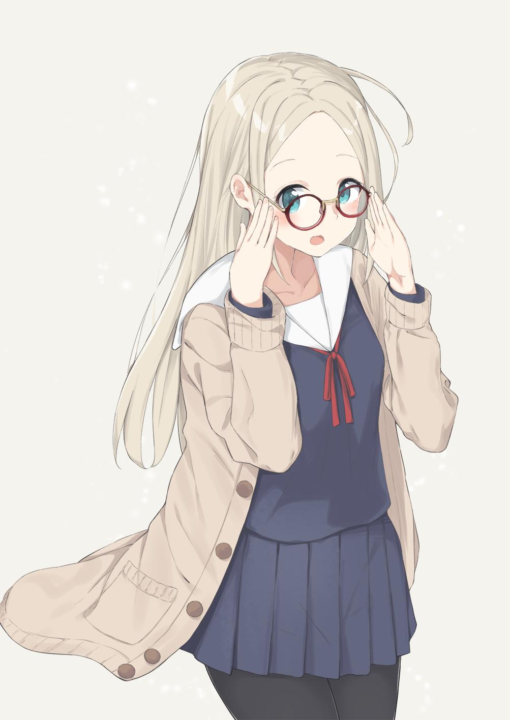 id=65947378,眼镜娘本子,动漫眼睛娘,圆框眼镜图片