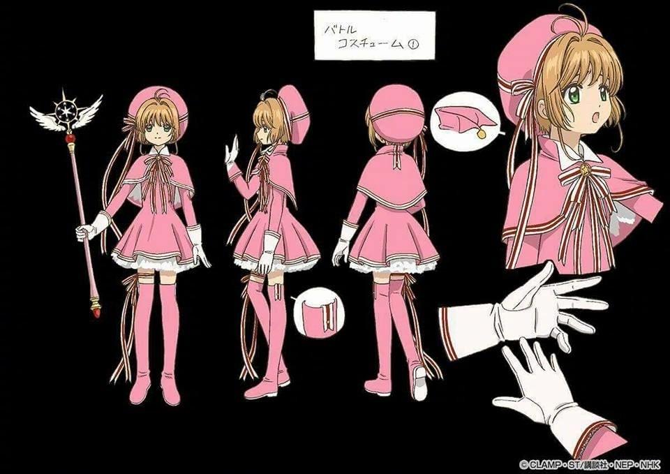 魔卡少女樱,小樱服装设定
