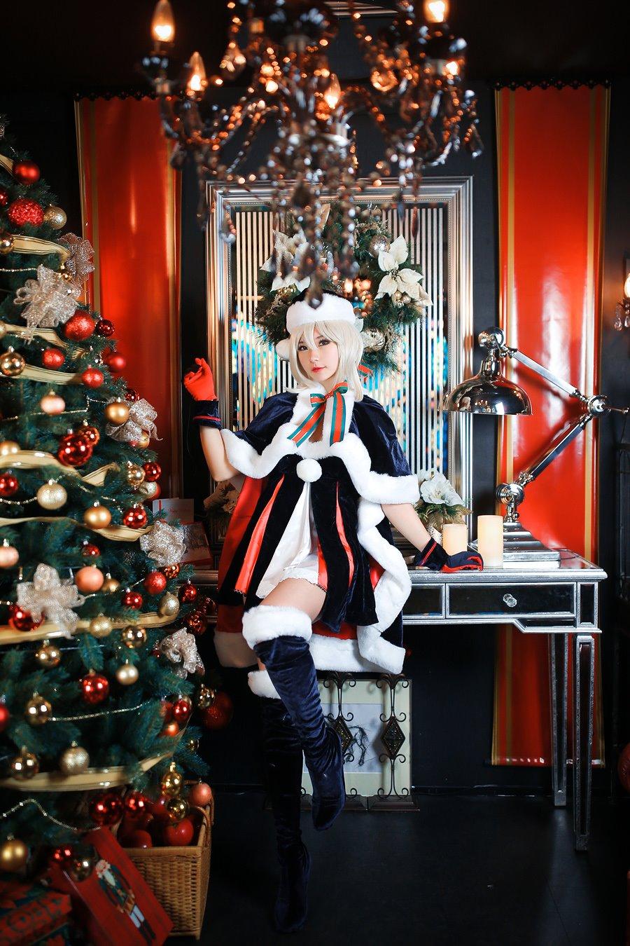 圣诞黑saber,Rider阶黑saber,黑sabercos,COSPLAY