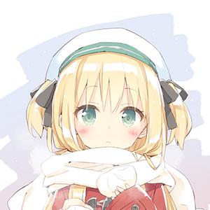 戴女生的围巾二次元头像少女动漫适合朗读女生诗的图片