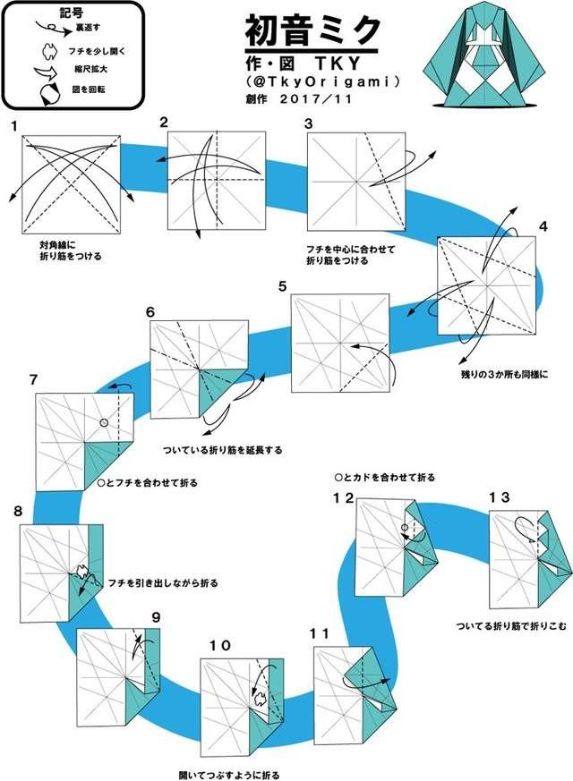 初音折纸教学