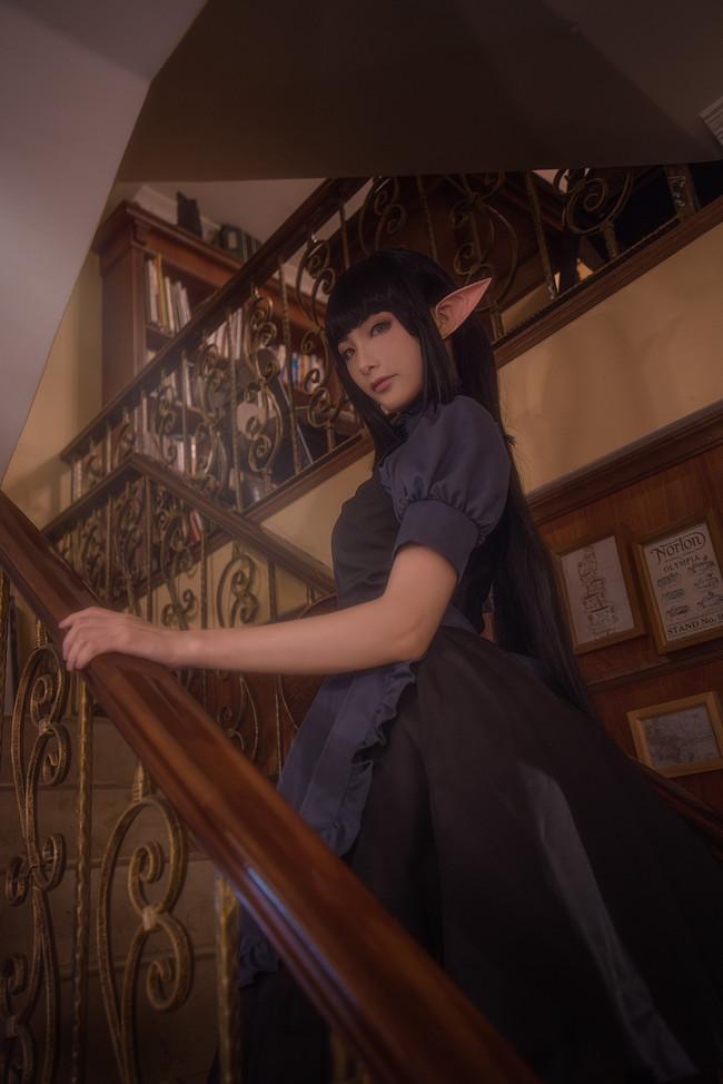 异世界食堂,女仆,黑丝,阿蕾塔,cosplay