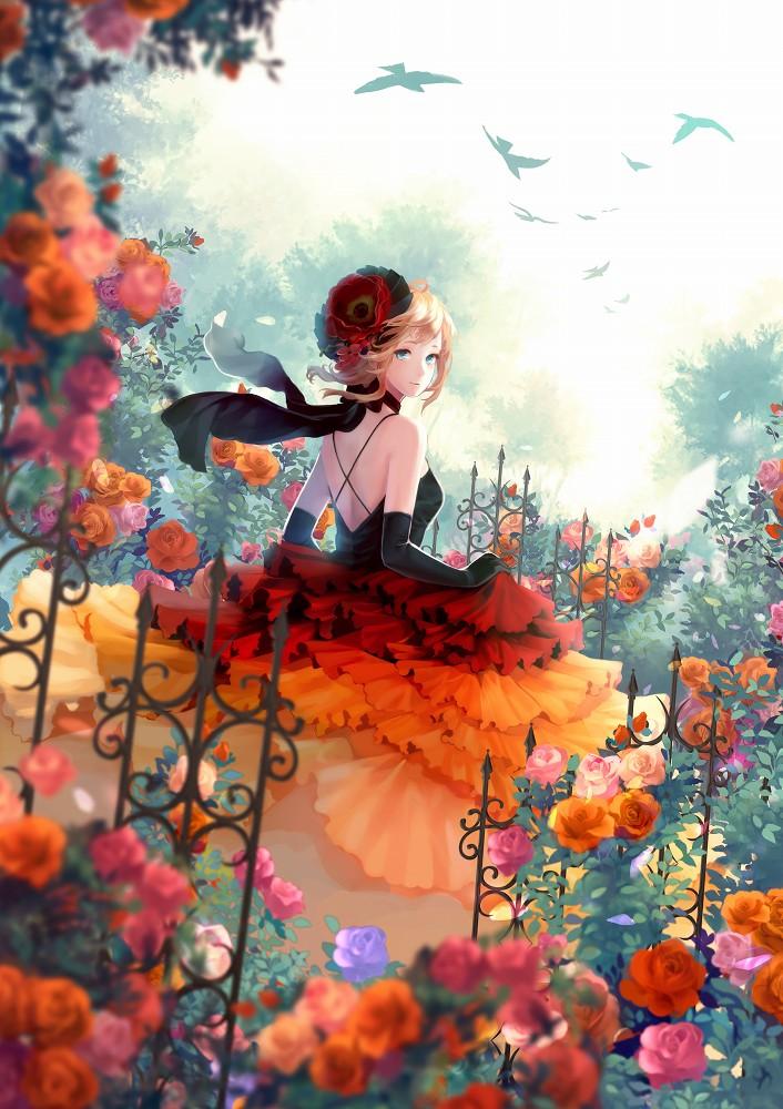 id=16962928,薔薇与少女,动漫女生图片,动漫图片特辑大全