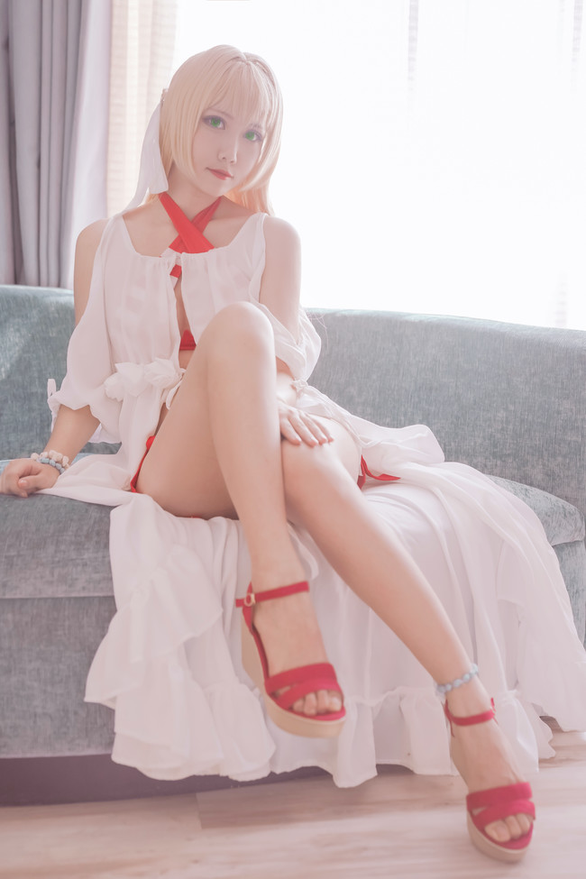Fate,尼禄泳装,cosplay