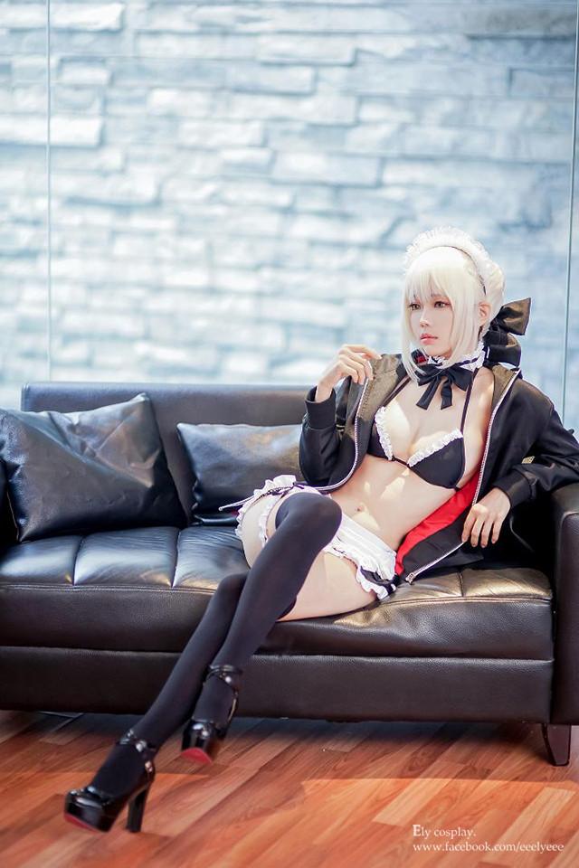 阿尔托利亚Alte,女仆泳装,cosplay