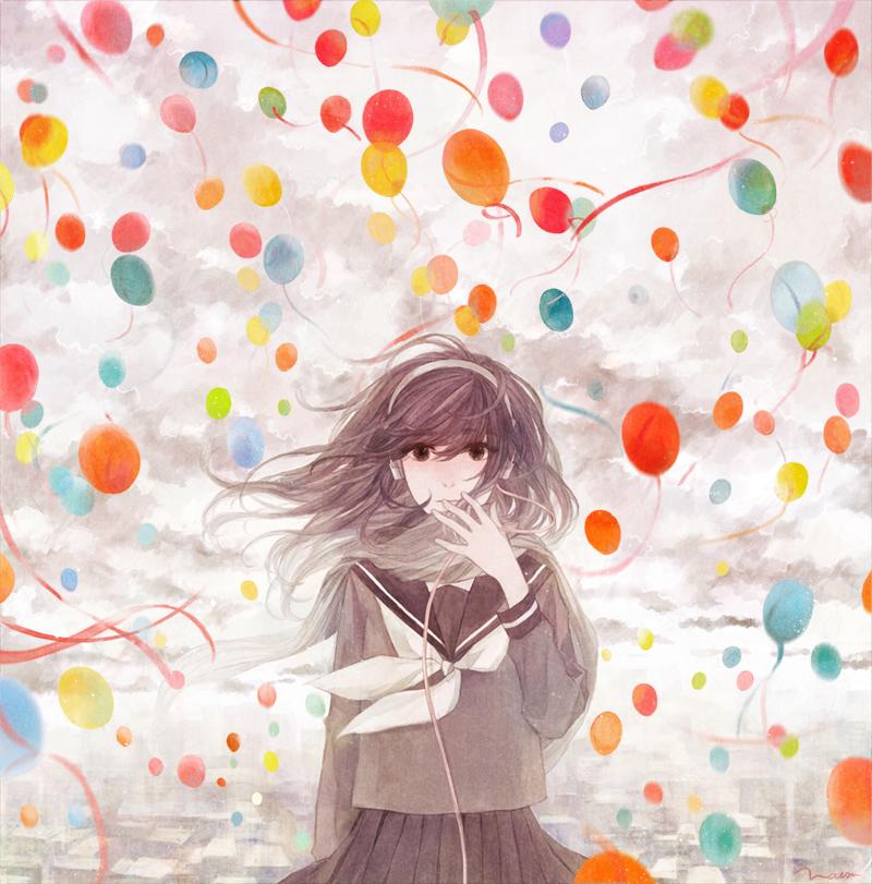 id=22960517,动漫气球图片,动漫少女图片,动漫唯美壁纸