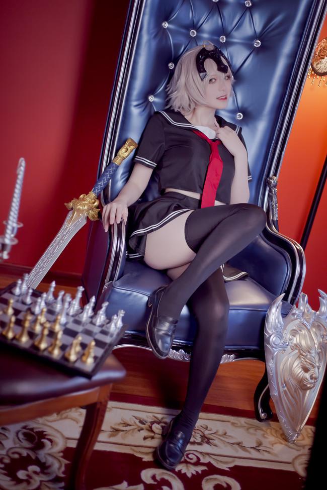 黑白贞德,cosplay
