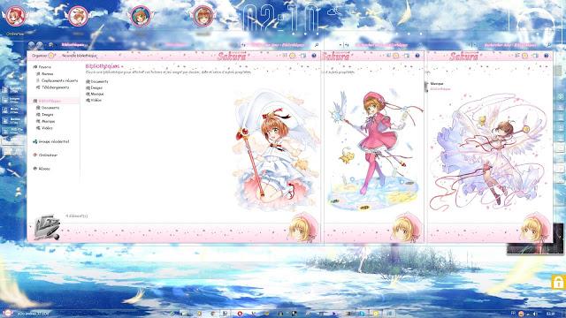 Windows 7,萌化电脑主题,魔卡少女樱