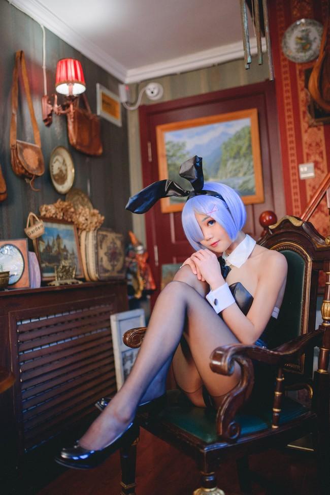 蕾姆,兔女郎,黑丝,cosplay