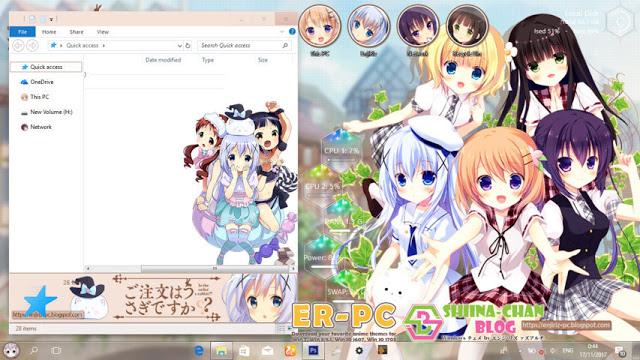 Windows10,萌化电脑主题,点兔